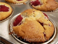 Frambuazlı Muffinler