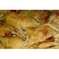 Fırında Biberli Tavuk
