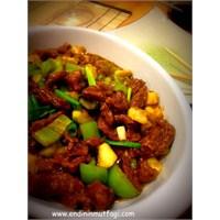 Yeşil Biberli Dana Eti (Çin Yemeği)
