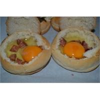 Anneminelinden Yumurtalı Hamburger Ekmeği
