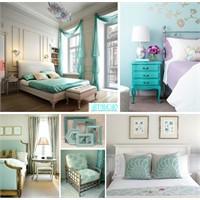 Renk Temalı Ev Dekorasyonları: Turkuaz