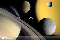 Cassini Satürn Uydularının Yanından Geçti