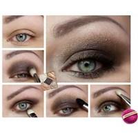 Şık Bir Göz Makyajı Resimli Anlatım