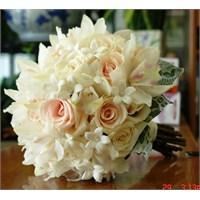 Beyaz Canlı Ve Yapay Gelin Çiçekleri Koleksiyonu