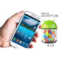 Galaxy S3 Android 4.1.2 Güncellemesi Türkiye' De!