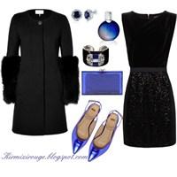 Siyah Elbiseyle Farklı Kombinler -5
