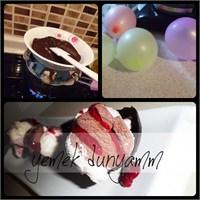 Çikolata Çanağında Dondurma/ Yemekdunyamm