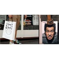 Dükkanlara sıradışı alışveriş çanta modelleri