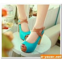 Burnu Açık Topuklu Ayakkabı Modelleri 2014
