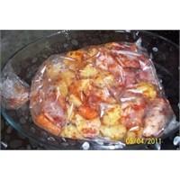 Fırın Poşetinde Sebzeli Tavuk