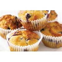 Sağlıklı Yaban Mersinli Muffin