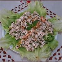 Tahinli Tavuk Salata (Resimli Anlatım)