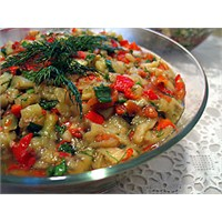 Hafif Közlenmiş Patlıcan Salata Tarifi