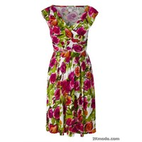 Renkli Elbise Modelleri 2014