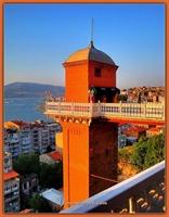 İzmir-konak-karataş da Tarihi Asansör