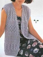Uzun Bayan Yelek Modeli (şemalı)