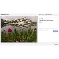 Facebook İle Kartpostal Gönderin!