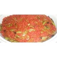 Fırında Kızarmış Domates Soslu Patlıcan Biber