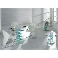 Dekoratif Cam Mutfak Masası Modelleri