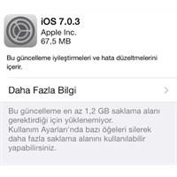 İos 7.0.3 Çıktı!