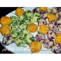 Atıştırmalık Renkli Patates Topları