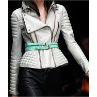 2011 Deri modası ve Balmain deri ceketler