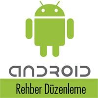 Android Rehberde Tekrarlanan Kişileri Birleştirme