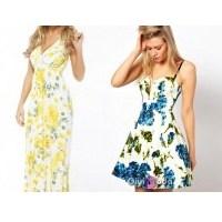 Yaz Sezonunda Yaz Gibi Çiçekli Elbiseler