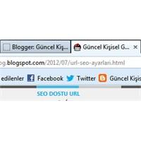 Blogger Url Seo Ayarları