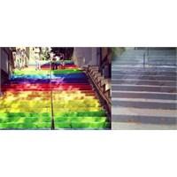 Cihangir Deki Renkli Merdivenler