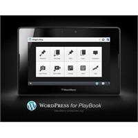 Wordpress For Playbook Uygulaması