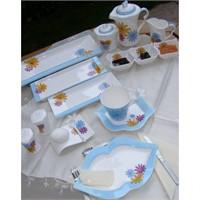 Desenli Porselen Kahvaltı Takımları
