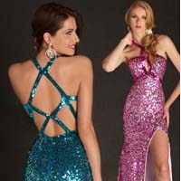 2013 Simli Abiye Elbise Modelleri