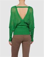 Yılın Modası Yeşil Triko Bluz Örneği