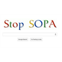 Google Sopa'yı Protesto Ediyor.