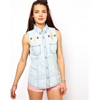 En Şık Bayan Kot Gömlek Modelleri