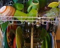 Makineden Kirli Çıkan Bulaşıklar
