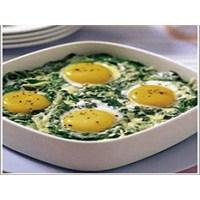 Fırında Ispanaklı Yumurta Tarifi