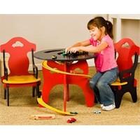 Kids Arabalı Oyun Masa Ve Sandalyesi