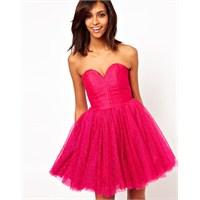 En Özel Pembe Renkli Elbise Tasarımları