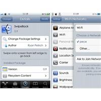 Swipeback Ekran Kaydırma Uygulaması Cydia Tweak