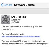 İos 7 Beta 2 Çıktı