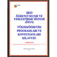 2013- Ösys Kılavuzu Yayınlandı