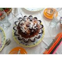 Kakaolu Çiçek Kek