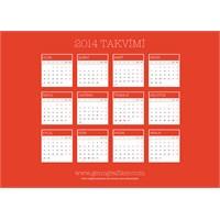 Vektörel Türkçe 2014 Takvimi