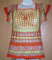 Renkli İplerden Yazlık Bluz Modeli