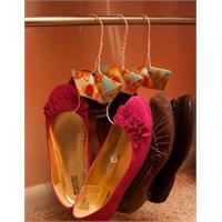 Tel Askılardan El Yapımı Ayakkabı Organizatörü