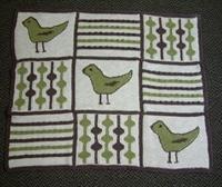 Kuşlar Ve Değişik Süslemelerle Bebek Battaniye Örn