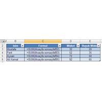 3 Boyutlu Excel Formulleri