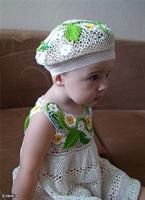 Dantelden Yazlık Kız Bebek Elbise Ve Şapka Modeli
